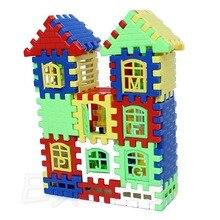 Дети Дети Веселые Кирпичи Дом Строительство Обучение Блоки Строительство Игрушка Набор