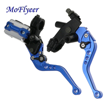 LMoDri 1 Pair Universal Motorcycle 7/8 22mm Brake Master Cylinder Clutch Reservoir Levers