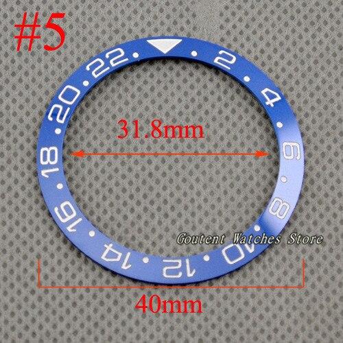 40mm rouge noir bleu vert céramique/titane lunette Insert Fit GMT automatique montre pour hommes