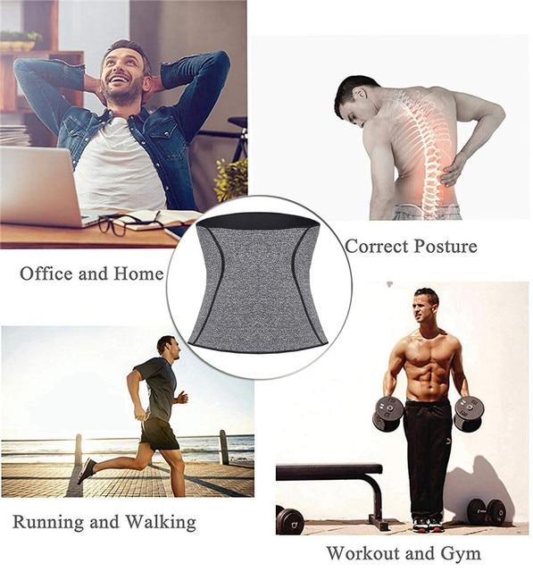 NINGMI Men Body Shaper Waist Trainer Fat Compression Brace Modeling Belt Tummy Trimmer Strap Slimming Cincher Neoprene Shapewear 4