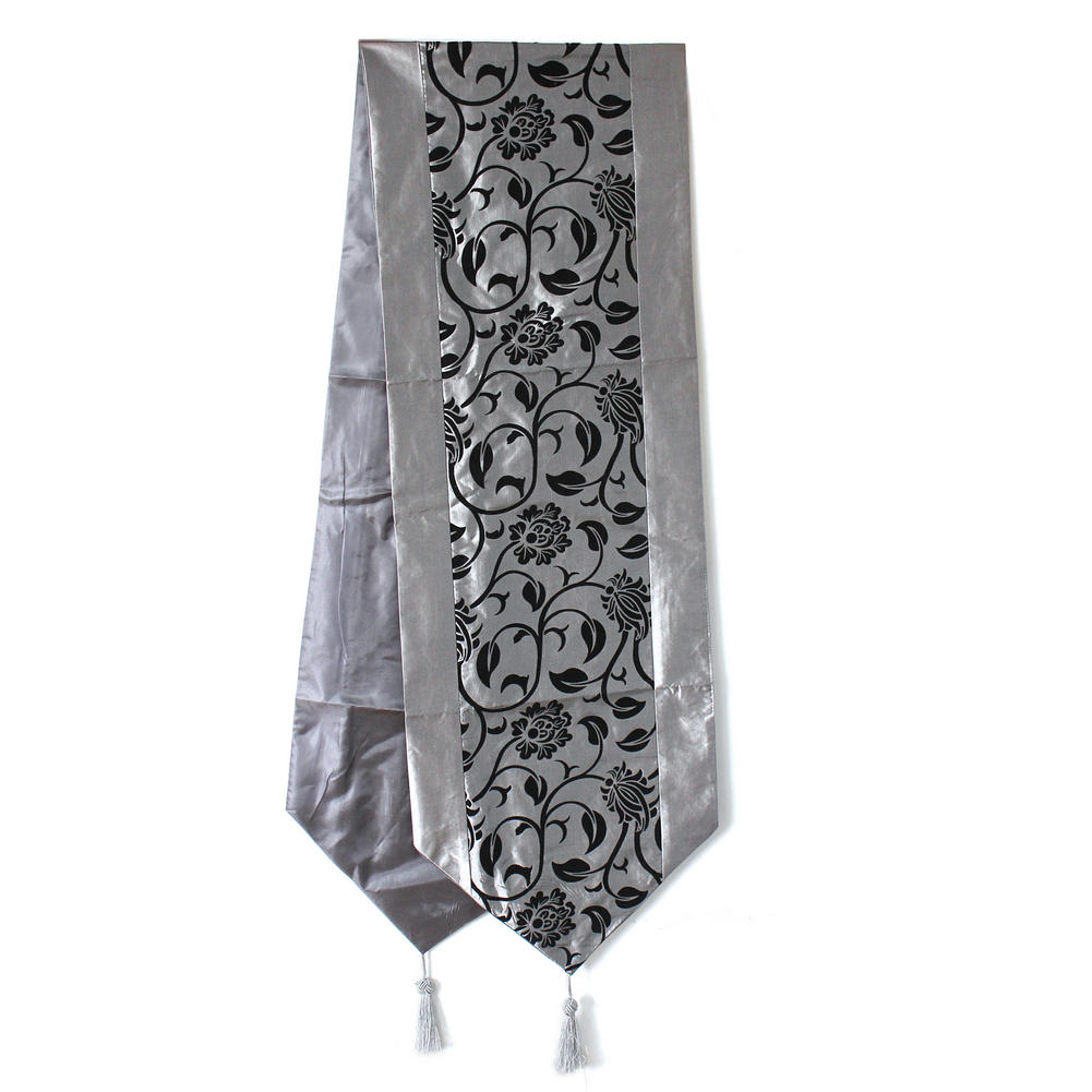 Fashionable Flower Blossom Silver Grey Table Runner Wedding Home Decoration Hot In Runners From Garden On Aliexpress Alibaba Group