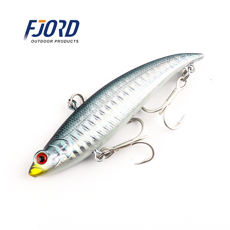 Super qualità 7 colori 90mm 17g Agitare VIB Hard Baits Esche artificiali laser Bass Fresh Minnow Esche da pesca Fishing Tackle