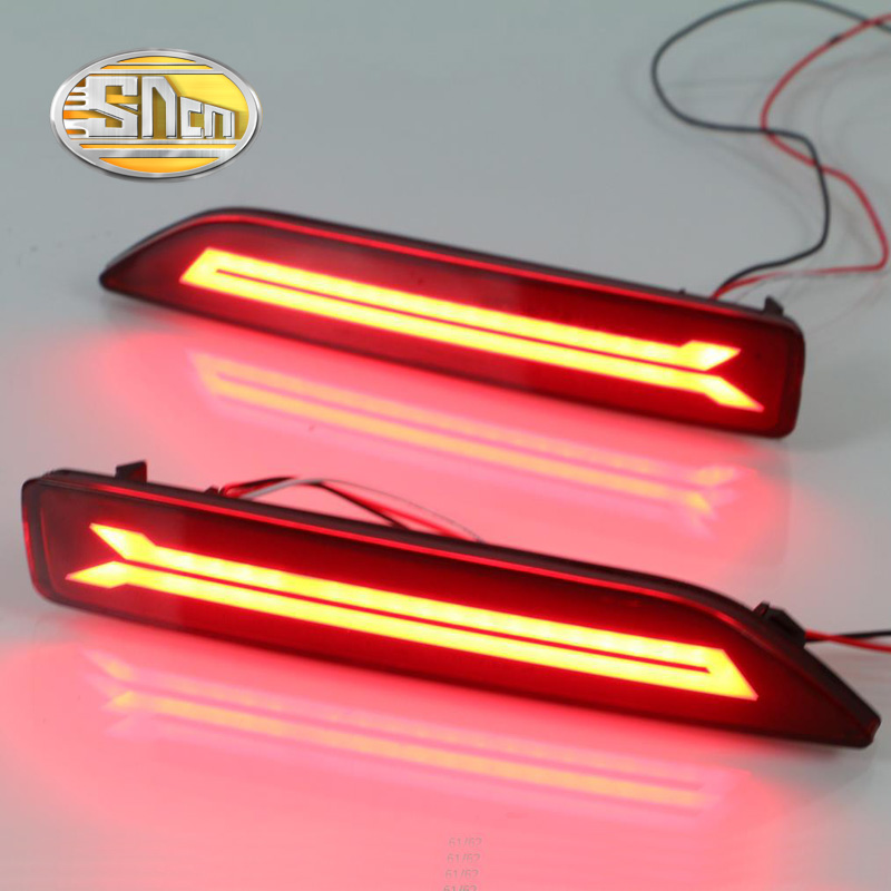 2PCS For Honda City 2012 2013 2014 SNCN Multi-function LED Rear Bumper Light Rear Fog Lamp Auto Bulb Brake Light Reflector sncn multi function led reflector lamp rear fog lamp rear bumper light brake light for toyota vellfire 2005 2014