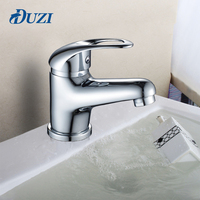 DUZI Mini Stylish Elegant Bathroom Basin Faucet Vessel Sink Water Tap Mixer Chrome Finish Deck Mount