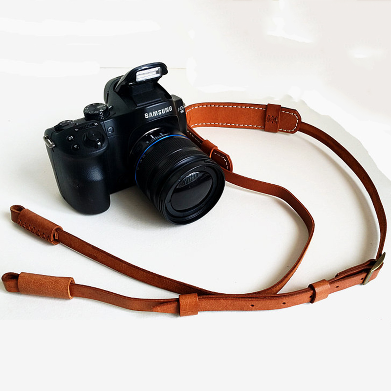 Vintage Camera Neck Strap Durable DSLR Camera Strap Neck Decompression Camera Accessories Adjustable Camera Strap Leather Strap
