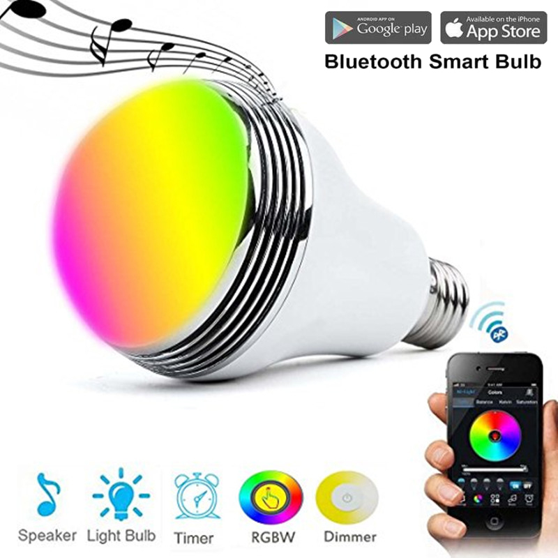 Smart Bulb Switch E27 LED RGB Bulb Colorful Lamp Music Audio Bluetooth Speaker Wifi APP Remote Control Home Automation Module lumiparty intelligent e27 led white rgb light ball bulb colorful lamp smart music audio bluetooth speaker with remote control