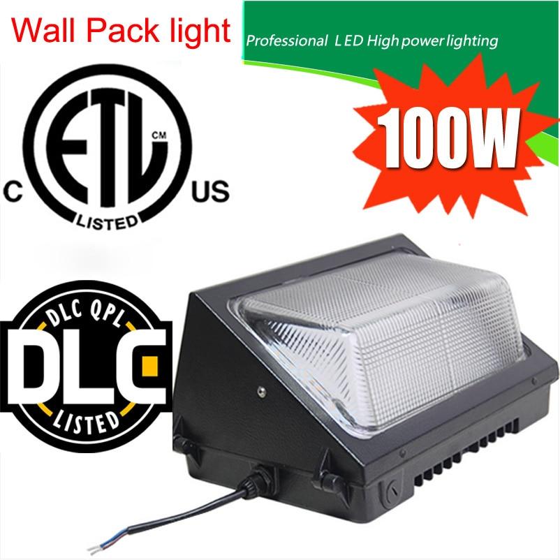 สหรัฐอเมริกาชิปเหยียบ MeanWell นักดำน้ำลดแสงเซ็นเซอร์แสงกลางแจ้ง IP65 13000LM 100 วัตต์ Led กำแพงแพ็คแสงรับประกัน 5 ปี DHL