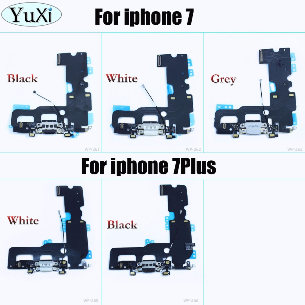 YuXi USB Charger Charging Connector Dock Port Flex Cable Replacement For IPhone 7 For IPhone 7 Plus Phone Accessories Parts