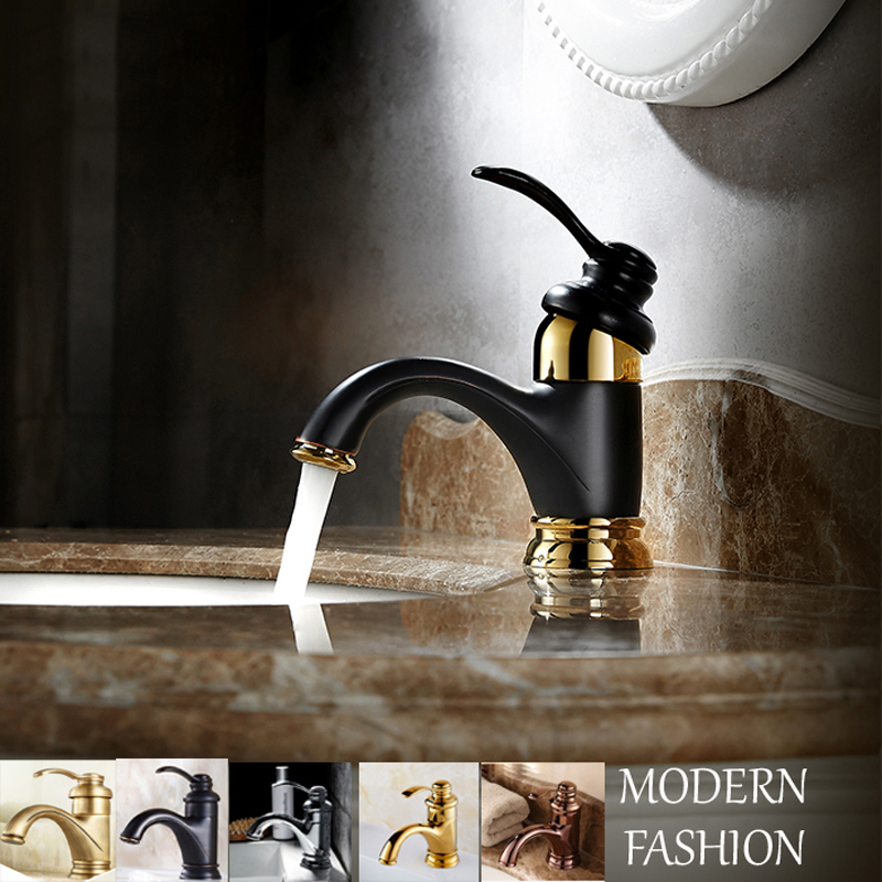 цена на Brass Bathroom Basin Faucet Single Handle Hole Vessel Sink Mixer Tap Modern Brass Vanity Sink Mixer Tap Bronze Chrome