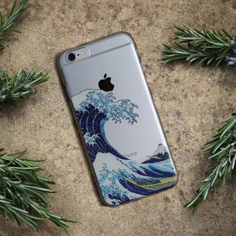 big sale 51ec7 865ca US $1.31 34% OFF|For iPhone 7Plus 7 6 6S 5 8 8Plus X XS Max Samsung Galaxy  2015 2016 2017 The Great Wave off Kanagawa Soft TPU Phone Case Cover-in ...