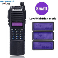 BaoFeng UV 82 Plus 10km High Power 3800mAh Battery Walkie Talkie Dual Band Radio long range Portable Radio pofung uv82 hunting