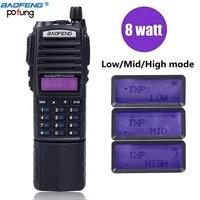 BaoFeng UV 82 Plus 10km High Power 3800mAh Battery Walkie Talkie Dual Band Radio long range Portable Radio pofung uv82 hunting