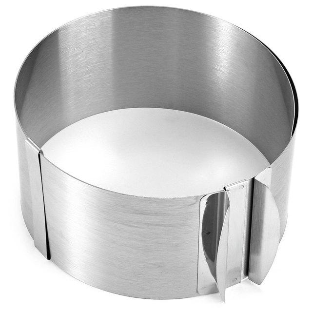 Kochen Praktisch Silber Versenkbare Edelstahl Kreis Mousse Ring