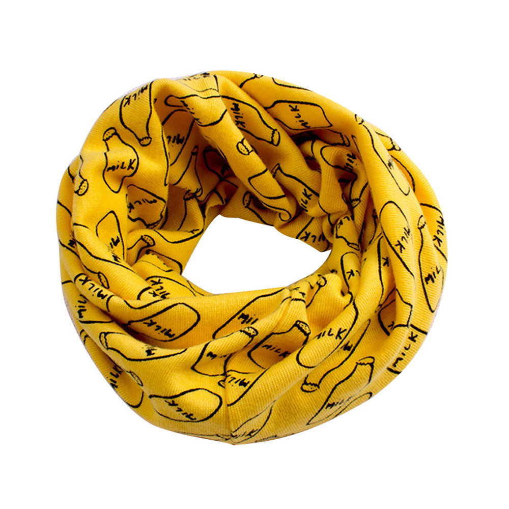 CHAMSGEND fashion Hot 6 colors Autumn Winter Boys Girls Cartoon Scarf Cotton O Ring Neck Scarves dropship Q30 AUG30