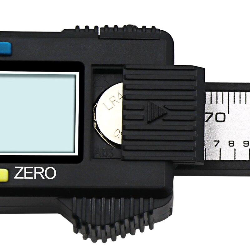 Штангенциркуль QSTEXPRESS QST008, ЖК-цифровой 150 мм электронный микрометр из углеродного волокна