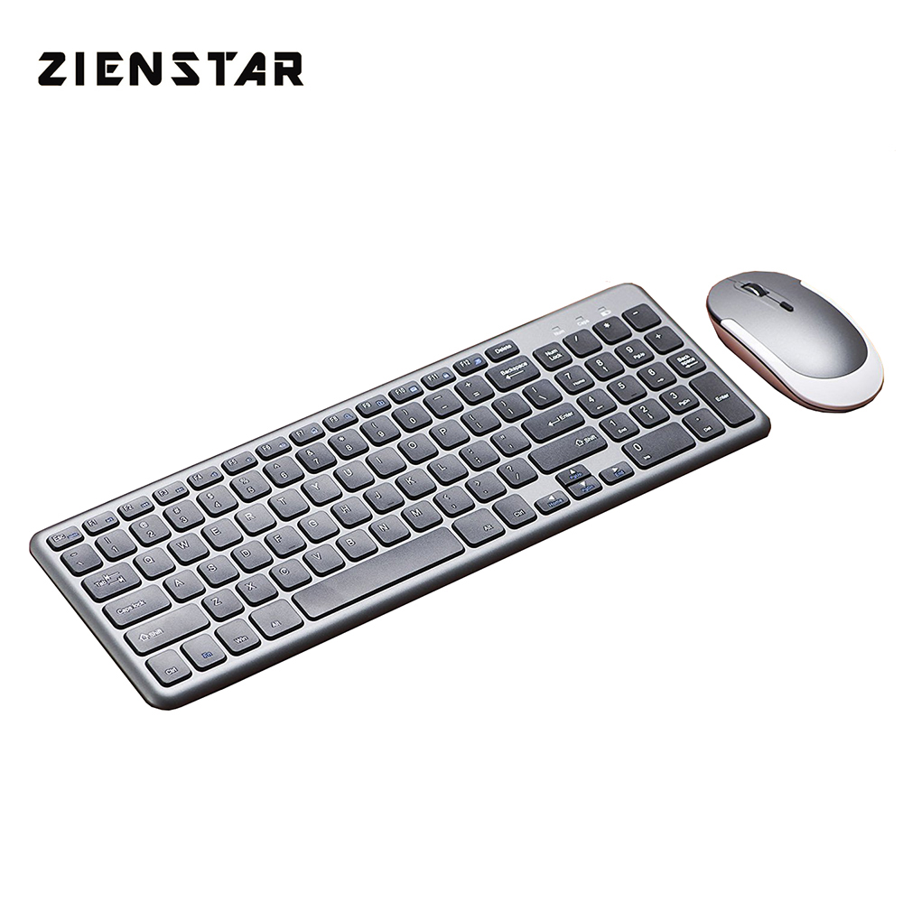 Zienstar English letter 2.4G Wireless keyboard mouse combo with USB Receiver for Desktop,Computer PC,Laptop and Smart TV цены онлайн