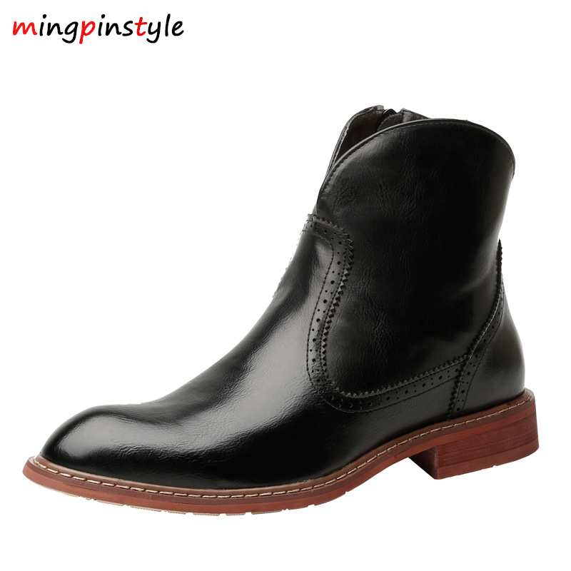 SPRING / Winter Man Chelsea Boots British Fashion Style Ankle Boots, Black / Brown / Red Brogues Soft Leather Casual Shoes Tenis zunyu new autumn winter men s chelsea boots luxury british style fashion ankle boots black brown blue soft leather casual shoes