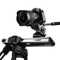 Микро 2 камеры слайдер Трек Долли слайдер рельсовая система Профессиональный портативный мини путешествия Видео слайдер для DSLR BMCC красный ...