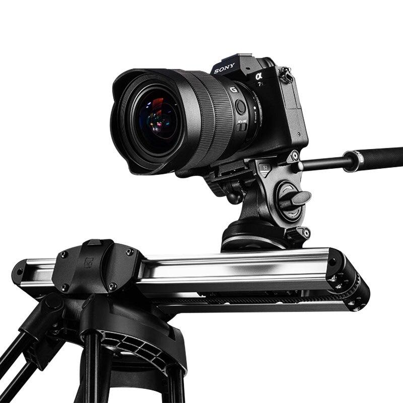 Micro 2 Camera Slider Dolly Trilha Slider Rail System Professional Portátil Mini Curso Slider Para DSLR Vídeo ARRI BMCC VERMELHO mini