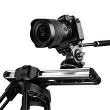 Mikro 2 kamera kaymak parça Dolly kaymak raylı sistem profesyonel taşınabilir Mini seyahat Video Slider DSLR BMCC kırmızı ARRI mini