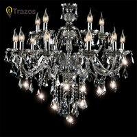 Luxury European style led candlestick chandelier for living room lustre de cristal modernos wedding dinner ceiling chandelier