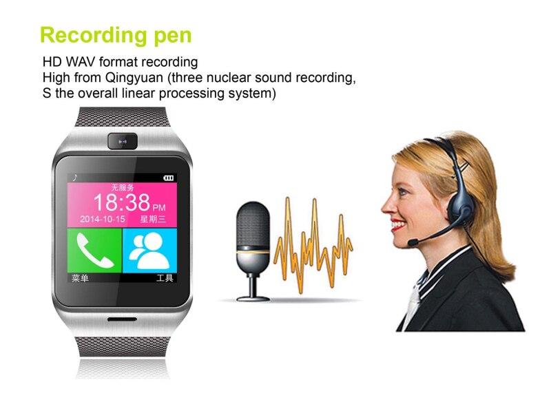 Smart bluetooth watch GV18 with camera wristWatch SIM card font b Smartwatch b font for iPhone6