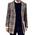 2016 новые зимние пальто Мужчины однобортный Траншеи Пальто Мужчины Верхняя Одежда Повседневная Пальто мужская Куртка Ветровка Мужчины Траншеи пальто