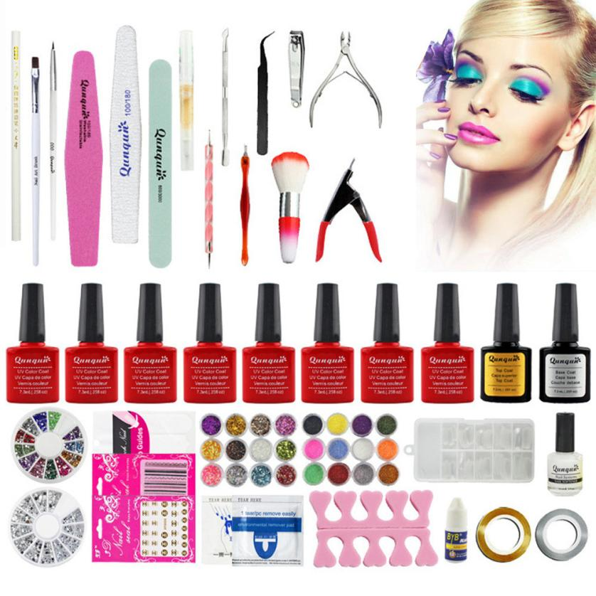 Cool! Acrylic Nail Art Tips Powder Liquid Brush Glitter Clipper Primer File Set Kit 100% Brand new in retail package Anne nail art charm kit contains 48 different random nail art pearls sequins flash powder acrylic diamond nail glitter