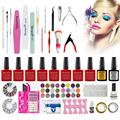 Cool! Acrylic Nail Art Tips Powder Liquid Brush Glitter Clipper Primer File Set Kit 100% Brand new in retail package Anne