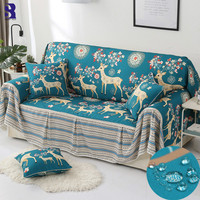 SunnyRain 1 piece Waterproof Sofa Cover Sectional Sofa Covers Slipcover Couch Cover Chaise Longue Table Cloth