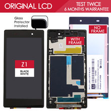 100 Tested 5 0 inch TFT 1920x1080 LCD For SONY Xperia Z1 Display Touch Screen Digitizer