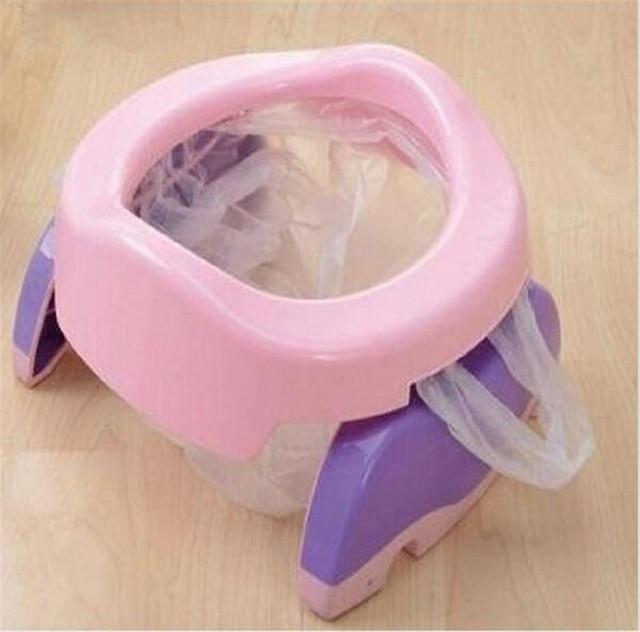 Bebê Infantil Assento Treinamento Do Toalete Potty 2 em 1 Assento Crianças Confortável Assistente Wc Portátil de Viagem Do Bebê Potty Cadeira Fezes