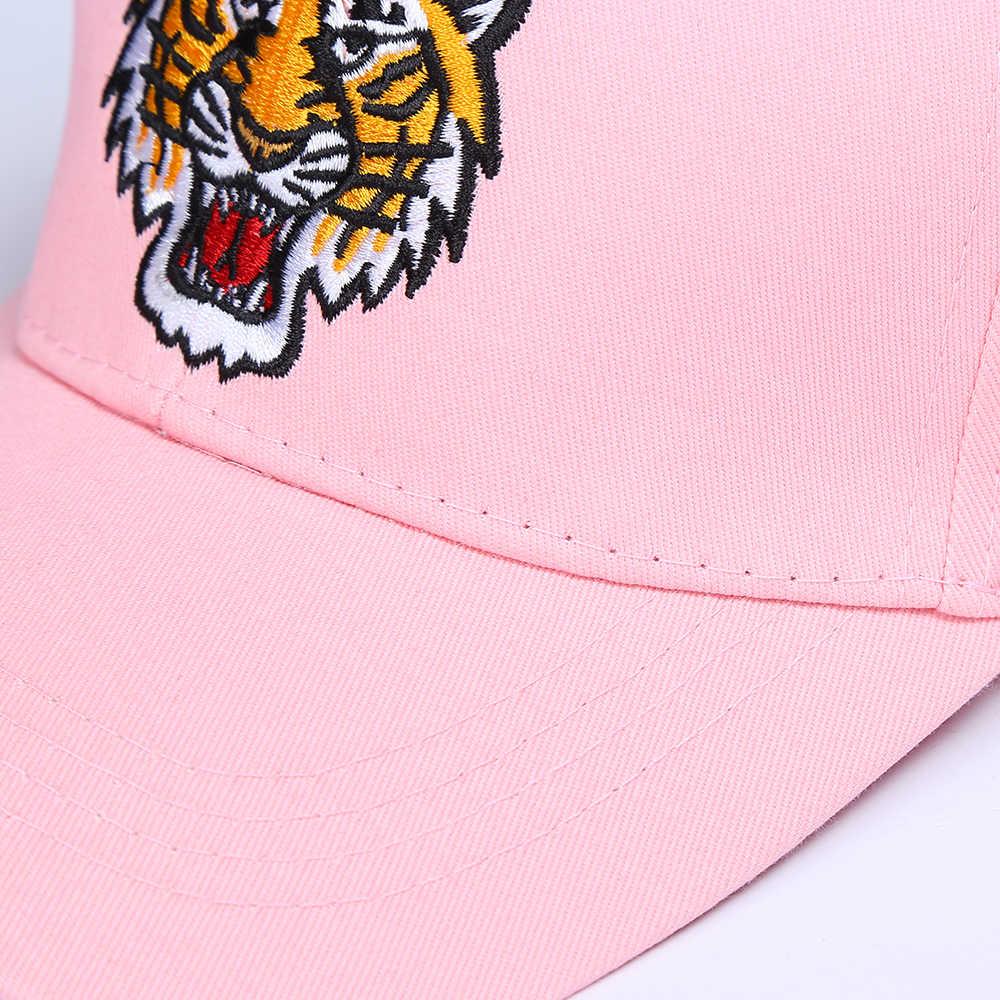 [SMOLDER] Mulheres Nova Moda Da Chegada dos homens Originais Legal do tigre Bordado Hip Hop Pai Chapéu de Beisebol Ajustável Unisex tampas