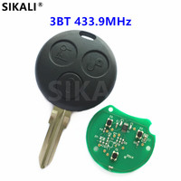 Remote Car Key For SMART Fortwo K Roadster City Coupe Forfour Crossblade Cabrio 433 9MHz With