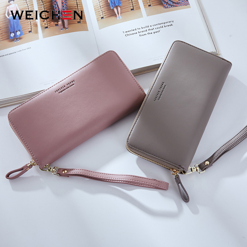 WEICHEN Wristband Women Long Clutch Wallet Large Capacity Wallets Female Purse Lady Purses Phone Pocket Card Holder Carteras 4