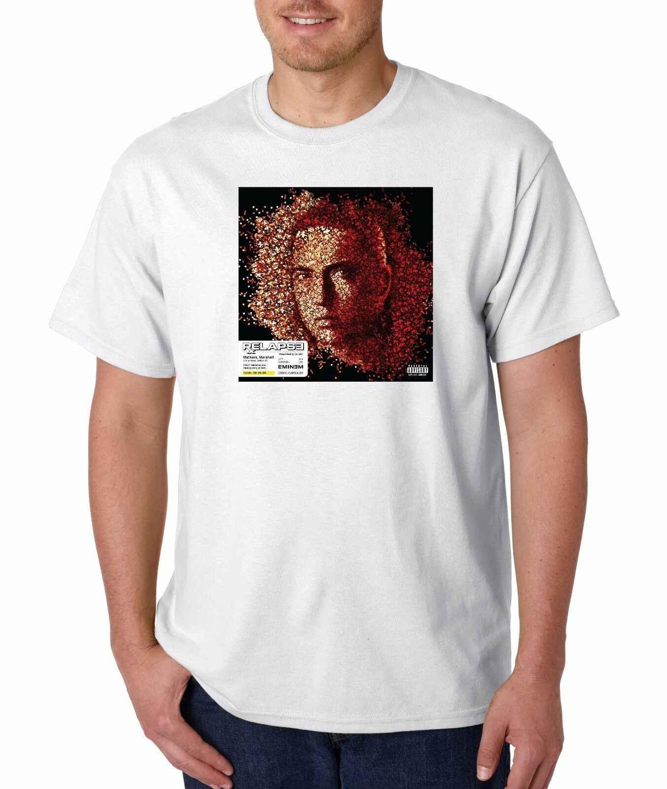 Eminem Terugval T-shirt Klassieke Hip Hop Tee Rap Slim Shady Revival Rap God Nieuwe Zomer Men'S fashion Tee, comfortabele t-shirt