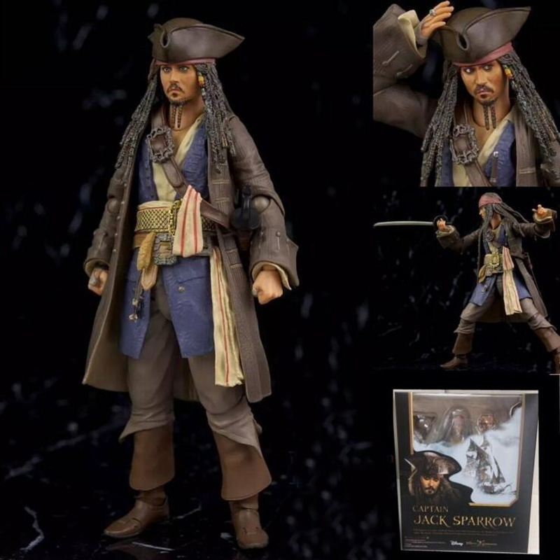 15cm Pirates Of The Caribbean Jack Sparrow BJD Figure Model Toys For Collection