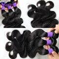 7А Бразильского виргинские волос объемной волны человеческих волос 4 шт. 100% человеческие волосы ткет натуральный черный 100 г/шт. наращивание волос
