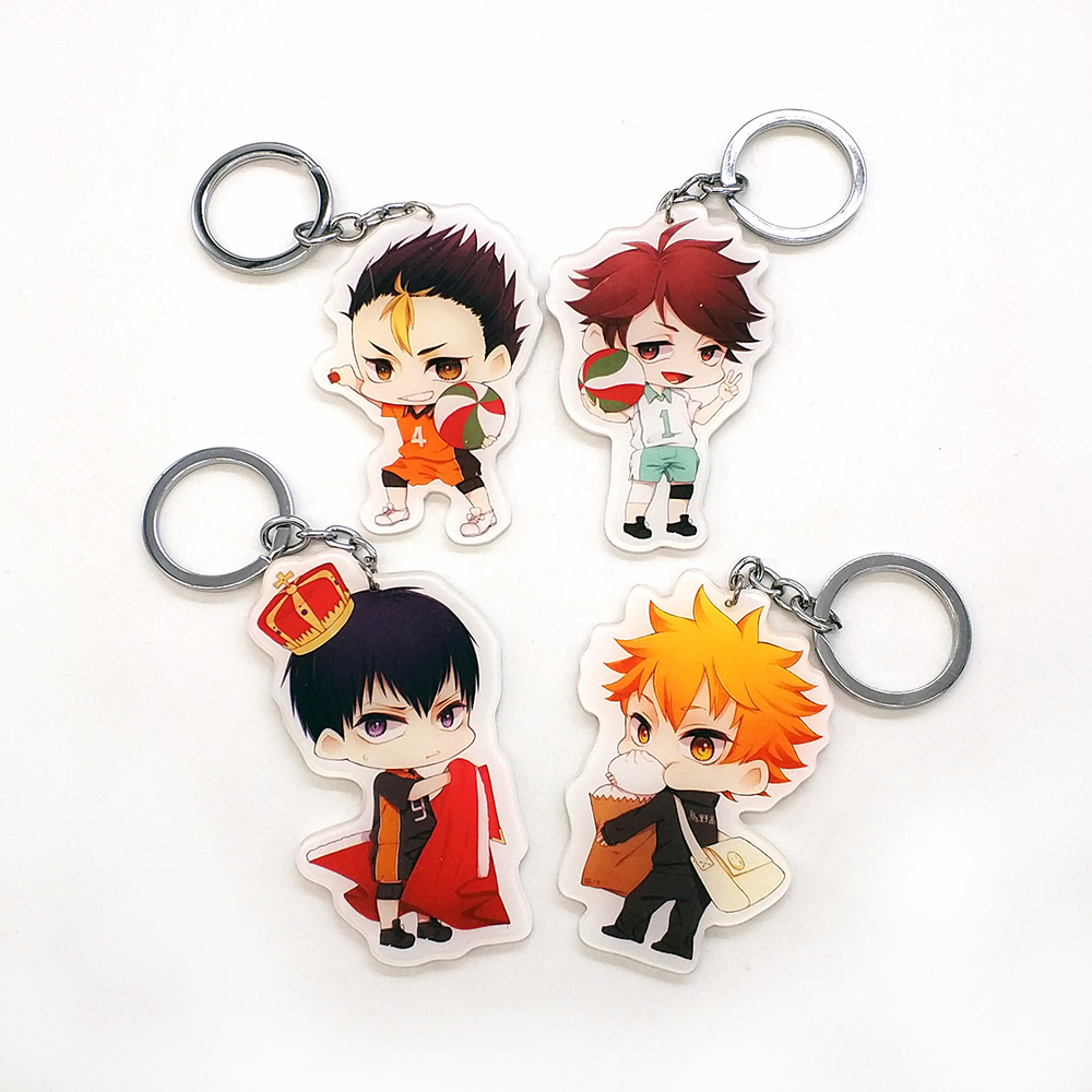 Love Thank You Haikyuu Shouyou Hinata Kageyama Tobio Tooru Yuu Oikawa Key Chain Ring Pendant Toy Gift Anime Japanese Comics