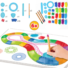 Creative Spiral Designer Freestyle Drawing Toys 30 Accessories Interchangeable frame pieces with 3 Pens Designer Spirograph Set