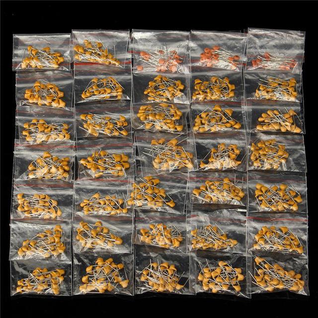 ขายส่งโปรโมชั่นที่ดีที่สุด 35 ค่า 8pF ~ 2.2uF DIP Multilayer Ceramic Capacitors Assortment ชุด 700Pcs