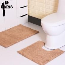 Противоскользящие Ванная комната пол Коврик машинная Стирка микрофибры синели Коврики для ванной двери туалета Коврик открытый душевая комната ковры и Коврик S