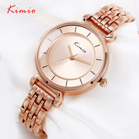 KIMIO Ladies Watch New Fashion Luxury Brand Women Gold Quartz Wristwatches Bracelet Hours Relojes Mujer Montre