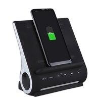 AZPEN D100 10 Вт QI Беспроводной Зарядное устройство зарядного устройства бас Динамик Hi-Fi для Samsung HTC Android телефон зарядки док-станцией