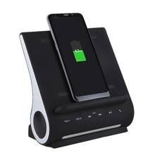AZPEN D100 10W Qi Wireless Charger Charging Pad Bass Speaker HIFI For Samsung HTC Android Phone Charge Docking Station
