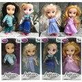 Atacado 4 pçs/set Novas Bonecas bonecas Princesa Elsa Sharon Rapunzel Cinderela fashion dolls para meninas Brinquedos Do Bebê