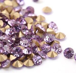 Круглые Кристаллы 1440 шт./лот ss6 2 мм, заостренные на спине стразы, Вибраторы фиолетового цвета для изготовления ювелирных изделий