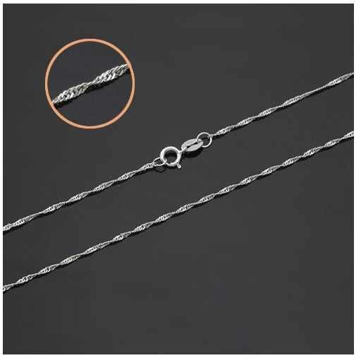 SHUANGR оптовая продажа 1 шт. Серебряная цепочка 1,2 мм волнистая цепь ожерелье для женщин ювелирные изделия витая Цепочка 16-30 дюймов Бесплатная доставка