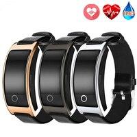 CK11S Smart Bluetooth Bracelet Blood Pressure Heart Rate Wrist Watch Fitness Tracker Pedometer Leather Wristband For Xiaomi IOS Smart Wristbands