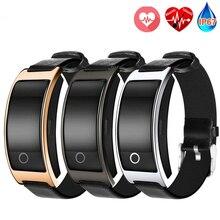 CK11S smart bluetooth браслет крови Давление сердечного ритма наручные часы фитнес-трекер Шагомер кожаный браслет для Xiaomi IOS